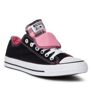 Converse AllStar Double Pink Plaid Tongue ShoeNWOB